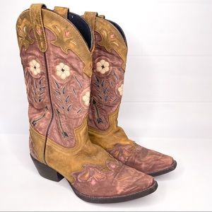 Laredo Miss Kate Floral Cowboy Cowgirl Boots